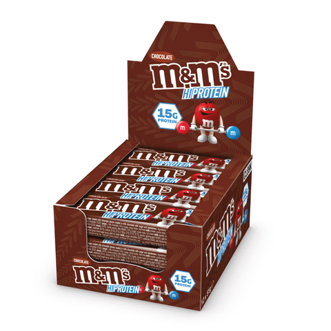 M&M'S CHOCOLATE PROTEIN BAR BOX - CHOCOLATE (12 BARS) - Supplements-Direct.co.uk
