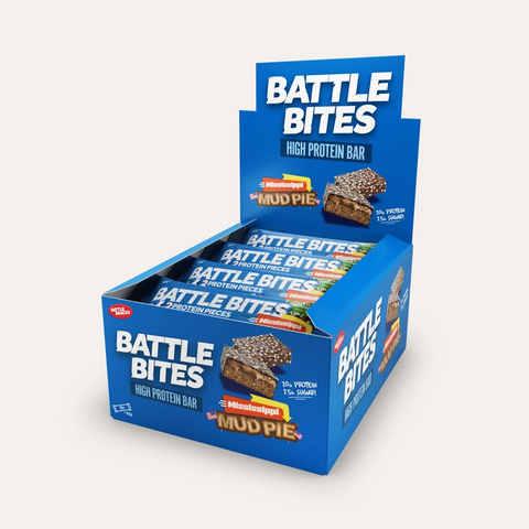 Battle Snacks Battle Bites 12x60g - Mississippi Mud Pie - GymSupplements.co.uk
