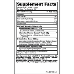 Mutant BCAA 9.7 348g - Fuzzy Peach - GymSupplements.co.uk