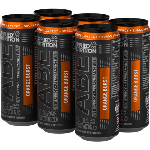 ABE - Energy + Performance 6x330ml Cans - Orange Burst - GymSupplements.co.uk