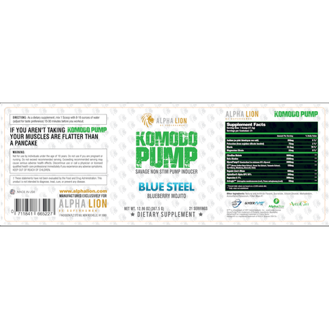 Alpha Lion Komodo Pump 367g - Peach Pumps - GymSupplements.co.uk