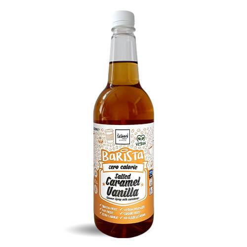 The Skinny Food Co Barista Salted Caramel Vanilla 1 Litre Zero Calorie Sugar Free Coffee Syrup - Salted Caramel Vanilla - Gymsupplements.co.uk