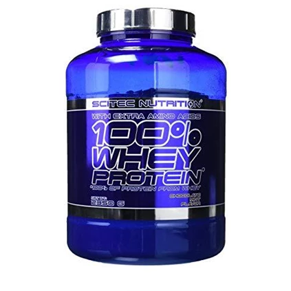 Scitec Nutrition - 100% Whey Protein With Extra Aminos - GymSupplements.co.uk