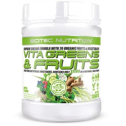 Scitec Nutrition - Vita Greens & Fruits with Stevia - 360g - GymSupplements.co.uk