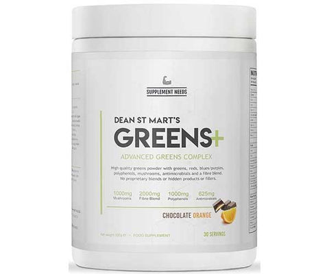 Supplement Needs Greens+ 30 Servings - Chocolate Orange - GymSupplements.co.uk