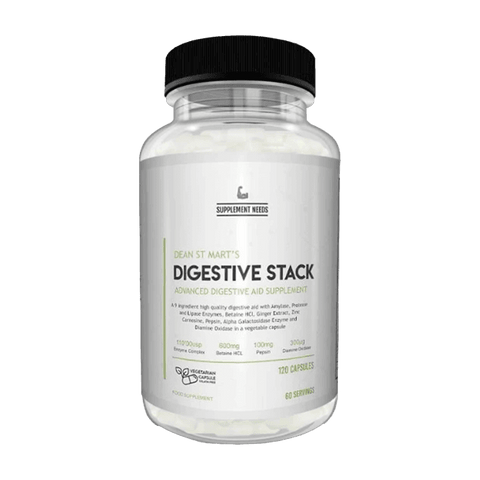 SUPPLEMENT NEEDS Digestive Stack 120 Caps - GymSupplements.co.uk