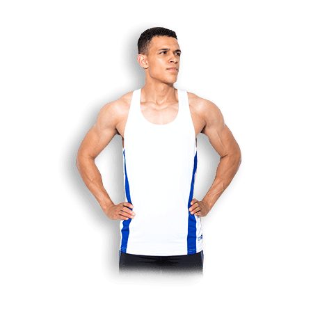 Mens USN Training Vest White - GymSupplements.co.uk