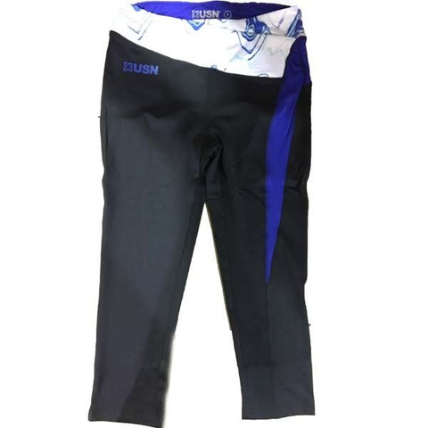 Ladies USN 3/4 Leggings - Black