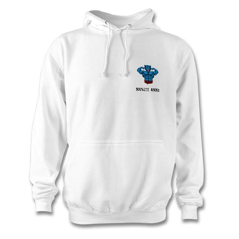 Muscle Ammo Classic Hoody - White - Supplements-Direct.co.uk