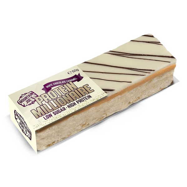 Mountain Joes White Chocolate Caramel Protein Millionaire (10X60g) - GymSupplements.co.uk