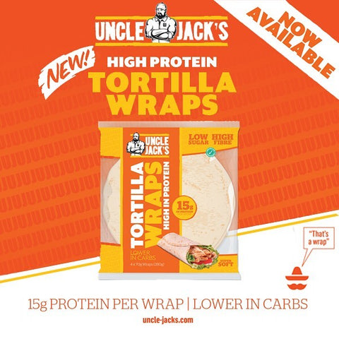 Uncle Jack's - High Protein Tortilla Wraps 280g - Supplements-Direct.co.uk