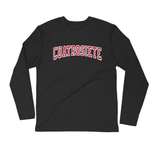 Cuatro Siete, Ring-spun Cotton, Crew Long Sleeve