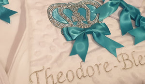 Traditional Crown Personalised Blanket