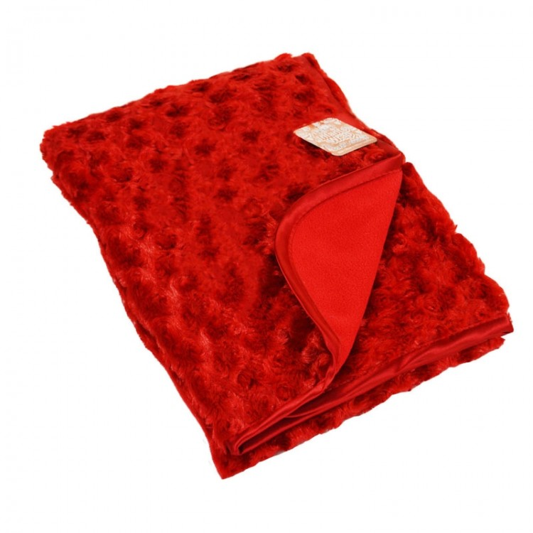 Red rose fur blanket Personalised Blanket
