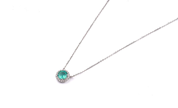 Tiny Emerald Necklace