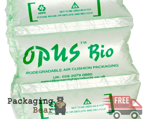 Opus Bio LARGE Biodegradable Green Air Pillows Cushions 200x200mm
