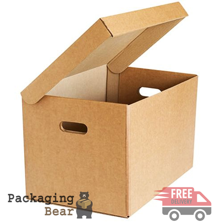 Strong A4 Archive Box with Handles Packagingbear.co.uk