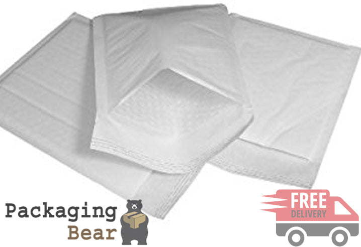 White Bubble Bag Envelopes 240x320mm G/4 Size (EPW7) | FREE Delivery on everything | Packagingbear.co.uk