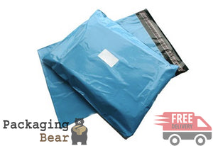 "Baby Blue Postage Poly Mailing Bags 10x14"" (254x355mm) 