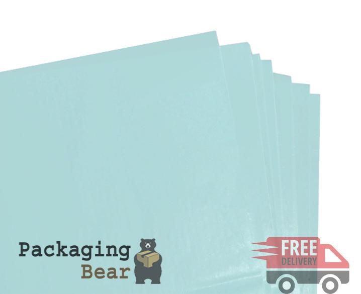 Light Baby Blue Acid Free Tissue Paper 375mm x 500mm ,18gsm | Packagingbear.co.uk