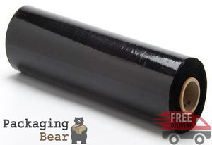 Black Pallet Stretch Shrink Wrap 400mm x 250M 17mu | Packagingbear.co.uk