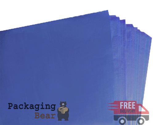 Blue Acid Free Tissue Paper 375x500mm | FREE Delivery on everything | Packagingbear.co.uk