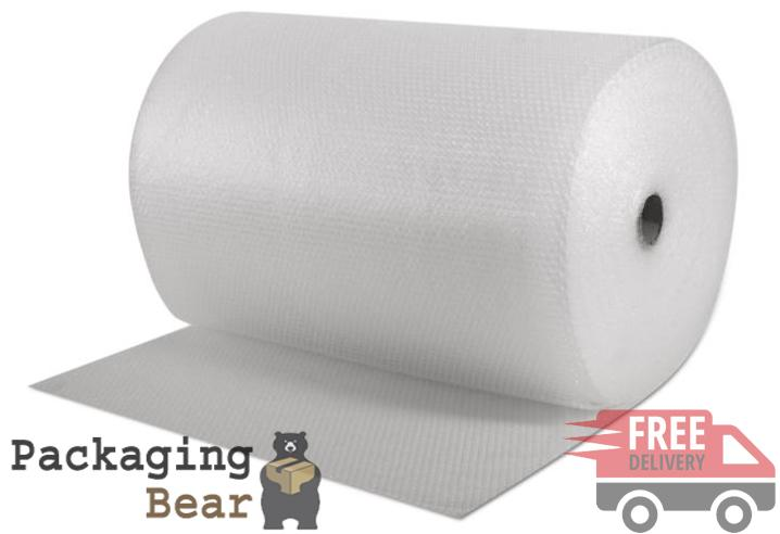 100M x 750mm Roll of Small Bubble Wrap | Packagingbear.co.uk