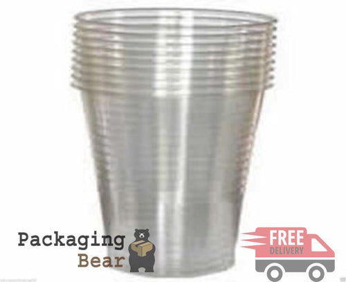 Clear Disposable Plastic Cups Glasses 7oz (190ml) | Packagingbear.co.uk