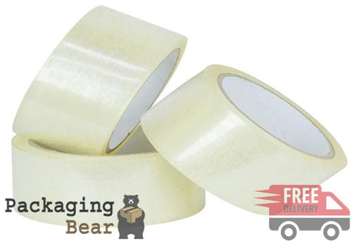 Clear Packing Parcel Tape 48mm x 66m | Packagingbear.co.uk