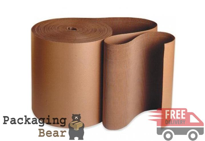 300mm x 75M Corrugated Cardboard Paper Roll | Packagingbear.co.uk