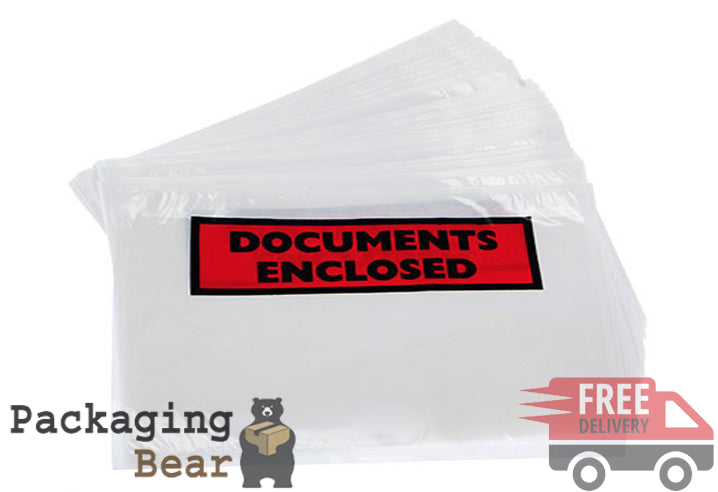 DL Printed Document Enclosed Envelopes Bags Wallets (110mm x 230mm) | PACKAGINGBEAR.CO.UK