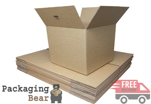 "6x6x6"" Single Wall Cardboard Mailing Box 