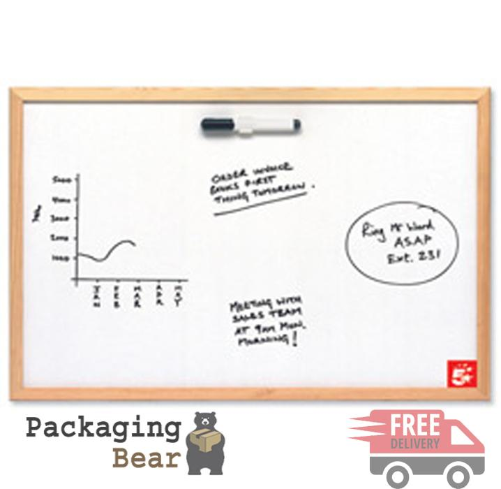 Dry White Board 600x900mm (includes set of 4 Pens) Packagingbear.co.uk