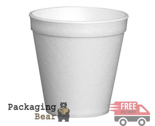 7oz Dart Polystyrene Foam Thermal Cups Hot Drinks (190ml) | Packagingbear.co.uk
