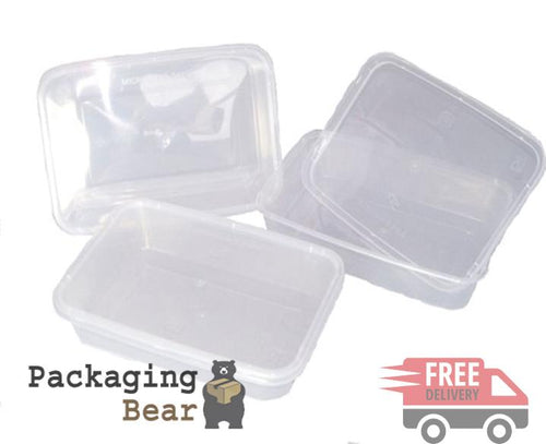 Plastic 500ml Microwave Food Takeaway Containers | Packagingbear.co.uk