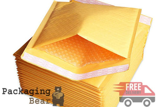 Gold Bubble Bag Envelopes 120x215mm B/0 Size (GP2) | Packagingbear.co.uk
