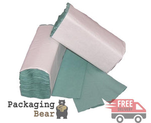 C-Fold Green Hand Paper Towels - 1 Ply | Packagingbear.co.uk