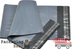 "Grey Postage Poly Mailing Bags 12"" x 16"" - 305x405mm 