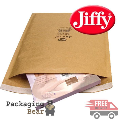 Jiffy Airkraft Size 3 (F) Padded Envelopes 220x320mm | Packagingbear.co.uk