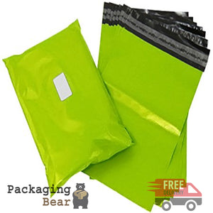 "Lime Neon Green Postage Poly Mailing Bags 6"" x 9"" - 165x230mm 