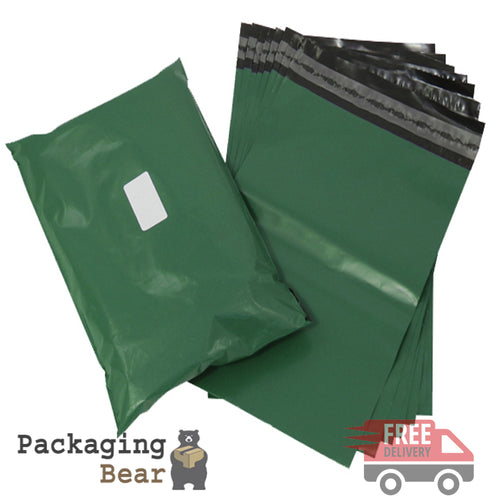 Olive Green Postage Poly Mailing Bags 12