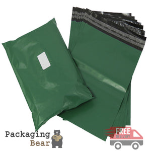 "Olive Green Postage Poly Mailing Bags 12"" x 16"" - 305x406mm 