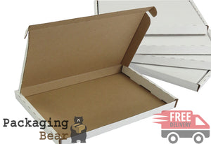 White PIP Royal Mail Large Letter Postal Boxes 334x245x20mm | FREE Delivery on everything | Packagingbear.co.uk