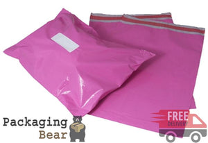 "Pink Mailing Bags 12x16"" (305x405mm) 