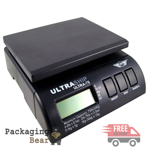 Digital 34kg 75lb Parcel Letter Postal Ultraship Weighing Scales | Packagingbear.co.uk