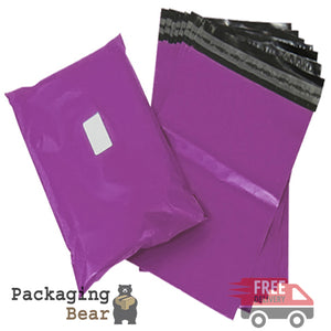 "Purple Postage Poly Mailing Bags 6"" x 9"" - 165x230mm 