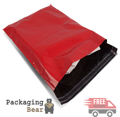 Red Mailing Bags 17x24