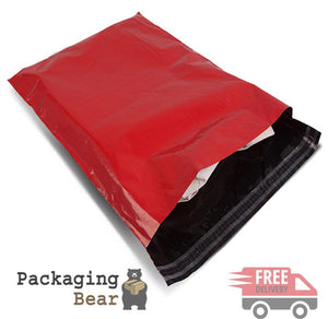 "Red Mailing Bags 10x14"" 250x350mm 