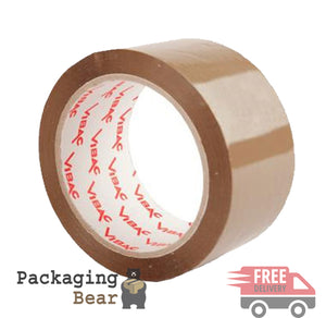 VIBAC X-Strong Brown (Buff) Polyprop 48mm x 66M Packaging Tape