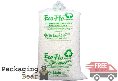 ECOFLO Biodegradale Loose Fill (Packing Peanuts) | Packagingbear.co.uk